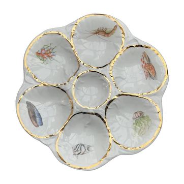 French Oyster Plate Vintage