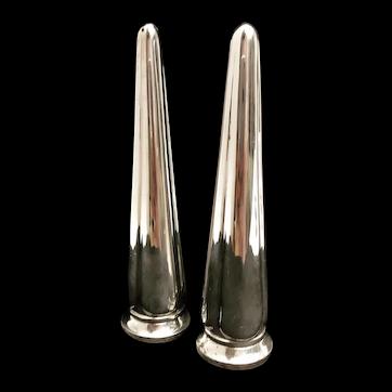 Salt and pepper shakers silver plated Vintage Elkington England