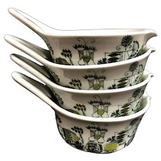 Figgjo Flint Market handled bowl set 4 sauces scandinavian design Norwegian