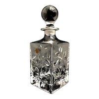 Decanter carafe Whisky square Crystal Vintage