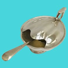 Antique Victorian Spoon Warmer James Dixon of Sheffield shell shaped with spoon 1880s