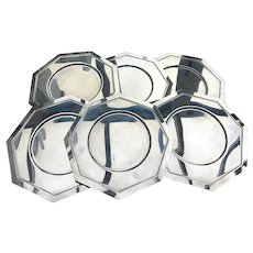 Chargers metal set stainless steel under plates