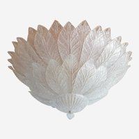 Murano Glass Mid Century Modern Very Large Flush Mount Chandelier, by Barovier & Toso, Italy 1960s