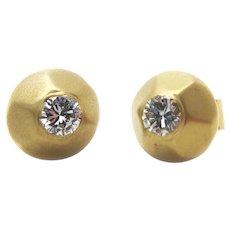 Antonio Bernardo 18K Yellow Gold and Diamond Stud Earring