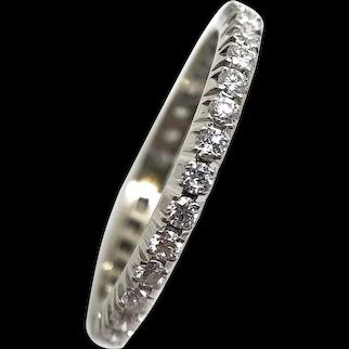 18k White Gold and Diamond Eternity Ring