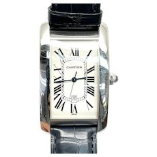 Cartier Tank Americaine 1741 Automatic 18K White Gold