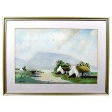 Original Irish W H Burns RUA Watercolour Painting c1940s