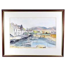 Original Irish Pen and Ink Painting Michael Doherty Signed Dated Listed Artist