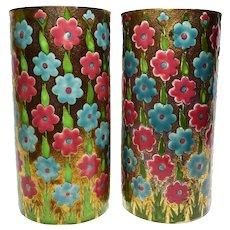 Antique Zsolnay Pecs Vases c1880 Aesthetic Movement
