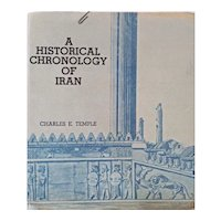 """Vintage Booklet: """"A Historical Chronology of Iran"""" written by Lieutenant Colonel Charles E. Temple.  Published by The United States Embassy Tehran, Iran in 1956"""