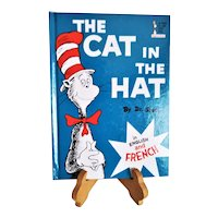 """Vintage Bilingual Edition of """"The Cat in the Hat"""" by Dr. Seuss ~ English and French ~ Published by Random House, NY in 1995 ~ Home Schooling Gem"""