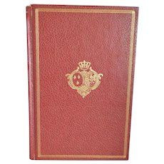 """Vintage Poetry Book ~ """"Poems of Byron, Keats and Shelley"""" ~ Published by International Collectors Library in 1967 ~ Faux Red Leather Cover ~ Gilt Decoration"""