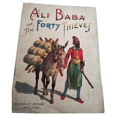 """Antique Children's Book:  """"Ali Baba or The Forty Thieves"""" Published by McLoughlin Brothers, NY.  One of New Wonder Story Series No. 29.  Published in 1989"""