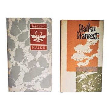 Vintage Haiku Books:  Haiku Harvest 1962 |  Japanese Haiku 1955-56 | Peter Pauper Press