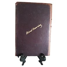 """Vintage Leather Bound Book: """"Complete Works of Robert Browning with Biography and Introductory Notes.""""  Volume 4 of 6 Volumes"""