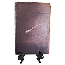 """Vintage Leather Bound Book: """"Complete Works of Robert Browning with Biography and Introductory Notes.""""  Volume 5 of 6 Volumes"""