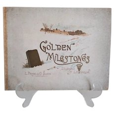 """Antique Inspirational Book: """"Golden Milestones""""  