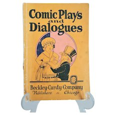 """Vintage play script:  """"Comic Plays and Dialogues"""" by Hobert O. Boggs 