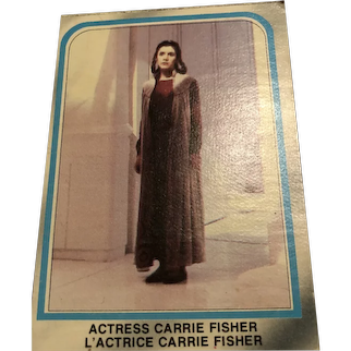 Star Wars collector card