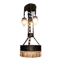 Spectacular modernist hanging chandelier