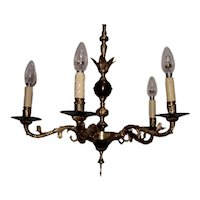 Hanging Chandelier in bronze and brown Lacquered