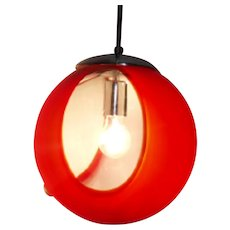 Globe-sphere pendant age space red