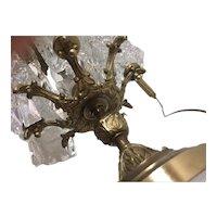 Solid bronze lamp