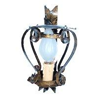 Vintage 60s wrought iron lantern
