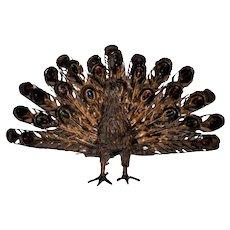 Nice 60s wrought iron peacock