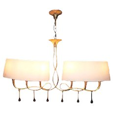 Ceiling lamp Paola yellow 6 lights
