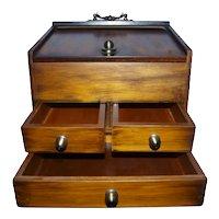Walnut wood jewelry box from the 80s