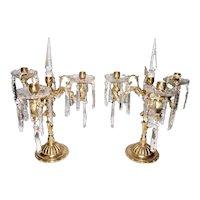 Cast bronze chandeliers