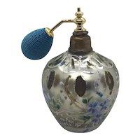 Mercury Cased Glass Enameled Perfume Bottle Atomizer
