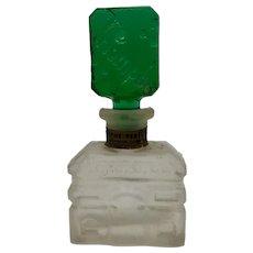Rare Czech Triomphe Perfume Bottle Green Stopper