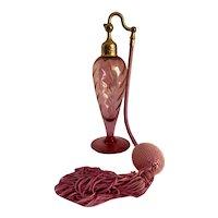 Devilbiss Cranberry Flash Crystal Perfume Bottle Atomizer
