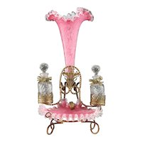 Stunning Antique Palais Royal Pink Perfume Holder