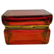 Stunning Murano Glass Ruby Red Box Casket