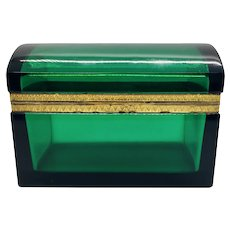 Domed  French Emerald Green Box Casket