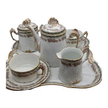 Limoges Porcelain Chocolate or Tea Set