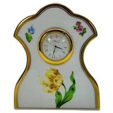 Vintage Dresser Clock Gilt Edges
