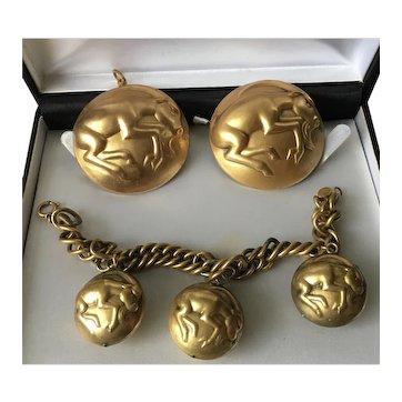Vintage Zodiac Joseff of Hollywood Set, Capricorn Jewellery, Hollywood Jewellery, Vintage Jewellery set, wonderful rare set.
