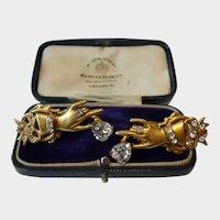 Vintage Fede Earrings, Vintage Fede Jewellery, Divine rare set.