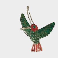 Vintage Bird Necklace, Sterling Silver Bird Pendant, Bird Pendant, wonderful piece.