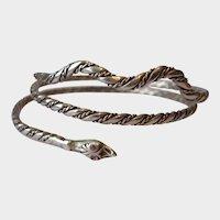 Vintage Snake bracelet, Snake Bangle, Snake Bracelet, Vintage snake jewellery, magical rare divine piece.