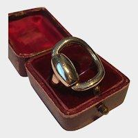 Vintage 9 Karat Gold Snaffle Ring, Equestrian Ring, Horse Lover's dream