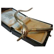 Vintage Snake Necklace, 9 Karat Gold Snake Necklace, Snake design necklace, Snake Necklace, Snake Jewellery, exquisite rare design piece.