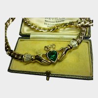 Vintage Hand Necklace, Hand Jewellery, Fede Jewellery, Vintage heart necklace, magical rare piece.