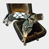 Vintage Snake bracelet, Snake Bracelet, Sterling Silver Snake, Snake Jewellery, Vintage snake jewellery, magical rare piece