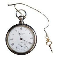 Antique 1893 Silveroid Waltham Pocket Watch