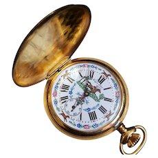 Vintage Swiss Made Eagle Star Geneve pocket watch